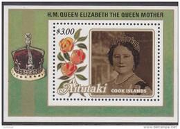 AITUTAKI, 1985 QUEEN MOTHER MINISHEET MNH - Aitutaki
