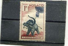 """MONACO. 1955. SCOTT 340. (SCENES FROM JULES VERNE'S BOOKS): """"FIVE WEEKS IN A BALLOON"""" - Monaco"""