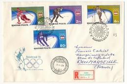 Hongrie - 2 Enveloppes FDC - Innsbruck 1976 - Winter 1976: Innsbruck