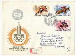 Hongrie - 3 Enveloppes FDC - Moscou 1980 - Ete 1980: Moscou