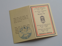 SECTION TIR Verbroedering Veldleger 1914-18 / Oudstrijders 1940-45 SCHUTTERSAFDELING : Kaart N° 80  Boon ( Voir Photo ) - Documenten