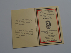 SECTION TIR Verbroedering Veldleger 1914-18 / Oudstrijders 1940-45 SCHUTTERSAFDELING : Kaart N° C30  Boon ( Voir Photo ) - Documenten