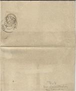 """1872-  Circulaire Affr. N° 52 SEUL Oblit. Cad T17 De Remiremont - TEXTE Concernant Les """"émigrés """" D'Alsace -Lorraine """" - Storia Postale"""