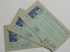 ROYAL CODY GHENT RIFLE CLUB Gent : Lidkaarten 1967/68/69  Boon ( 3 Stuks - Voir Photo ) - Documents