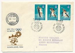 Hongrie - Enveloppe FDC - Patinage Artistique - Sarajevo 1984 - Figure Skating