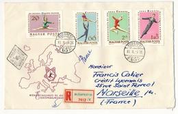 Hongrie - 2 Enveloppes FDC - Championnat D'Europe 1963 - Figure Skating