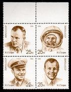 Russia, USSR 1991, Scott 5977a, Yuri Gagarin,  Block Of 4, MNH - 1923-1991 URSS
