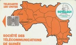 Guinea - Map Of Guinea 150 Un - Guinea