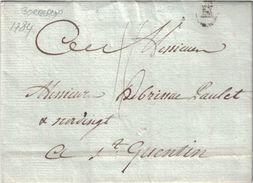 GIRONDE - BORDEAUX - CACHET B - LENAIN N°18- LETTRE AVEC TEXTE ET SIGNATURE LE 2-10-1784 - REGNE LOUIS XVI (P1) - Marcophilie (Lettres)