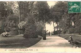 CPA N°13377 - LOT DE 4 CARTES DE CAMBRAI - LE JARDIN PUBLIC - Cambrai