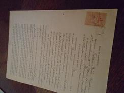 1920 - DOCUMENT De VILLEURBANNE - Avec TP/DIMENSION  N° 67 - 2 Photos - Fiscaux