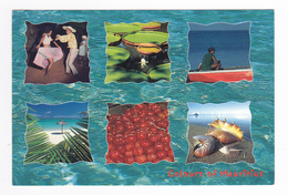 Ile Maurice Mauritius Séga Victoria Regia Pêcheurs Plage Pomme D'amour Coquillages VOIR TIMBRE - Maurice