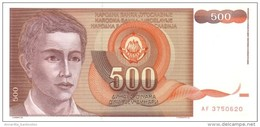 YUGOSLAVIA 500 DINARA 1991 P-109 UNC  [ YU109 ] - Yugoslavia