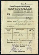 A8539 - Karlsruhe - Alte Rechnung Quittung - Gas Wasser Licht - 1936 - Elektrizität & Gas