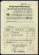 A8540 - Karlsruhe - Alte Rechnung Quittung - Gas Wasser Licht - 1938 - Elektrizität & Gas