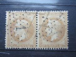 """VEND BEAU TIMBRE DE FRANCE N° 28B EN PAIRE , ETOILE """" 1 """" !!! - 1863-1870 Napoleon III With Laurels"""