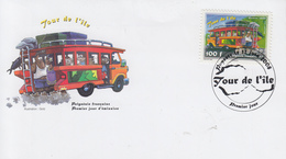 Enveloppe  FDC  1er  Jour   POLYNESIE   TOUR  DE  L' ILE    2008 - Bus