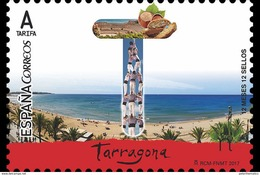 SPAIN, 2017, MNH,12 MONTHS,  12 TOWNS, TARAGONA, BEACHES, BREAD, NUTS,  1v - Holidays & Tourism