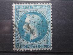 """VEND BEAU TIMBRE DE FRANCE N° 29B , ETOILE """" 1 """" !!! - 1863-1870 Napoléon III Lauré"""