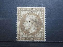 VEND BEAU TIMBRE DE FRANCE N° 30 , FOND LIGNE !!! - 1863-1870 Napoléon III Lauré