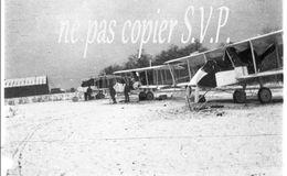Guerre 14-18 AVIATION LES AVIONS SOUS LA NEIGE Négatif  Militaire Escadrille VB 110 Aerodrome MALZEVILLE 1915 - 1914-18
