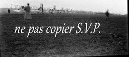 Guerre 14-18 AVIATION LES AVIONS PRETS AU DEPART Négatif  Militaire Escadrille VB 110 Aerodrome MALZEVILLE 1915 - 1914-18