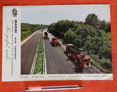 Marini (machine De Construction Des Routes) - Années 50 Et 60 - 2 Docs - Bitume, Asphalte - Roads - Strate - Italie