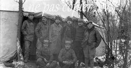 Guerre 14-18 AVIATION GROUPE DE LA VB 110 DEVANT LA TENTE Négatif  Militaire Escadrille VB 110 Aerodrome MALZEVILLE 1915 - 1914-18