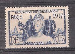 MADAGASCAR 1937, Exposition Internationale De Paris,  : Yvert 198 , 1 F 50 Bleu , Neuf ** / MNH, TB - Madagascar (1889-1960)