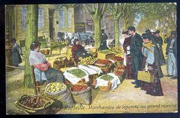 Cpa Du 13  Marseille -- Marchandes De Légumes Au Grand Marché   SEP17-52 - Ambachten