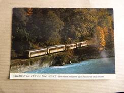 TRAIN  AU SALVARET   CHEMINS DE FER DE PROVENCE - Eisenbahnen