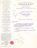 """Lettre """"Ets Gouvy"""" à Dieulouard (Meurthe-et-Moselle) (1924) - Vecchi Documenti"""