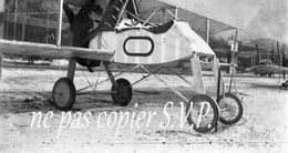 Guerre 14-18 AVIATION UN AVION VOISIN SOUS LA NEIGE Négatif  Militaire Escadrille VB 110 Aerodrome MALZEVILLE 1915 - 1914-18