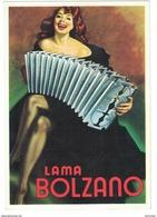 CARTOLINA PUBBLICITARIA LAMA BOLZANO   Illustratore BOCCASILE GINO - Publicité