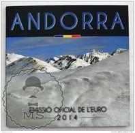 Andorra 2014 -  Official Coin Set  - 8 Coins Set: 1 Cent - 2 Euros - New - Andorra