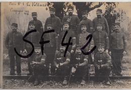 CARTE PHOTO   MILITAIRES   G V C   POSTE N°1 DE LA VALBONNE - Guerre 1914-18