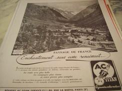 ANCIENNE PUBLICITE PAYSAGE DE FRANCE LA BERARDE  BOUGIE AC - Transports