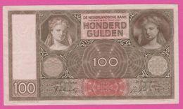 PAYS BAS - 100 Gulden Du 29 Augustus 1942 - Pick 51c - AU - [2] 1815-… : Regno Dei Paesi Bassi