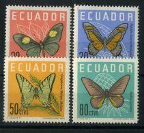 EQUATEUR ( POSTE ) : Y&T N°  676/679  TIMBRES  NEUFS  AVEC  TRACE  DE  CHARNIERE , A  VOIR . - Ecuador