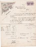 FATTURA COMMERCIALE - CON MARCA DA BOLLO DA CENT. 5 - OPERA DELLA CUCINA ECONOMICHE IN BERGAMO - Italia