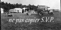 Guerre 14-18 AVIATION VEHICULE A 4 ROUES POUR DESCENDRE  Négatif  Militaire Escadrille VB 110 Aerodrome MALZEVILLE 1915 - 1914-18