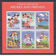 B866 GHANA CARTOONS WALT DISNEY A YEAR IN THE LIFE OF MICKEY & FRIENDS 1KB MNH - Disney