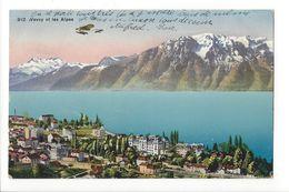 18078 - Vevey Et Les Alpes Avion 1913 - VD Vaud