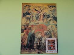 CARTE MAXIMUM CARD IL TRONTO DELLO STENDARTO CATTOLICO ALLA BATTAGLIA DI LEPANDO 1597 PAR GRAZIO COSSALI CITE DU VATICAN - Religione