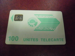 TELECARTE DJIBOUTI 100 Unités Puce SC4 Argent OPT Verte - Djibouti