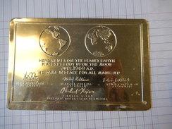 CPSM - PREMIER PAS SUR LA LUNE 21 JUILLET 1969 CARTE ARGENTE - MOON LANDING - SPACE - ASTONAUT -  R8013 - Astronomia