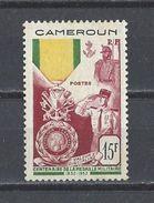 CAMEROUN . YT 296 Neuf*  Centenaire De La Médaille Militaire 1952 - Unused Stamps