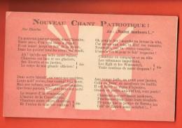 EVD-29  Nouveau Chant Patriotique, Roulez Tambours, Par Charles. Forny Editeur, Non Circulé - Suisse