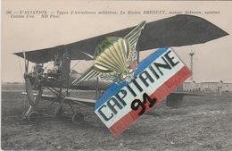 CPA  L AVIATION TYPES  D AEROPLANES MILITAIRES LE BIPLAN BREGUET MOTEUR SALMSON SYSTEME CANTON UNÉ X X - 1914-1918: 1st War