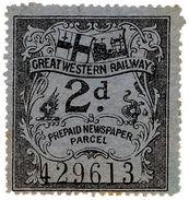 (I.B) Great Western Railway : Prepaid Newspaper Parcel 2d - 1840-1901 (Victoria)